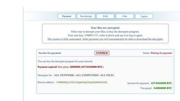 The dark web payment and negotiation site used by REvil