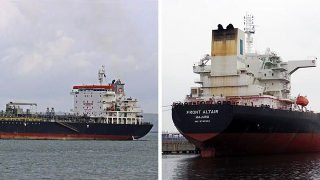 21 thủy thủ trên tàu Kokuka Courageous (trái) và 23 trên tàu Front Altair đã được cứu