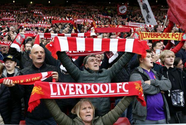 Aficionados de Liverpool
