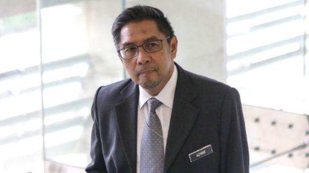 MH370 Response Team leader Azharuddin Abdul Rahman arrives at the ministry of transport headquarters in Putrajaya, Malaysia, 30 July 2018