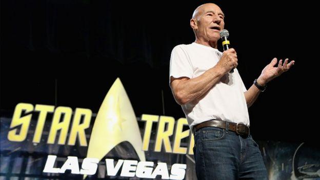 Patrick Stewart en un evento en Las Vegas