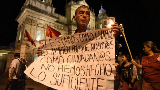 Protesta contra la corrupción en Guatemala