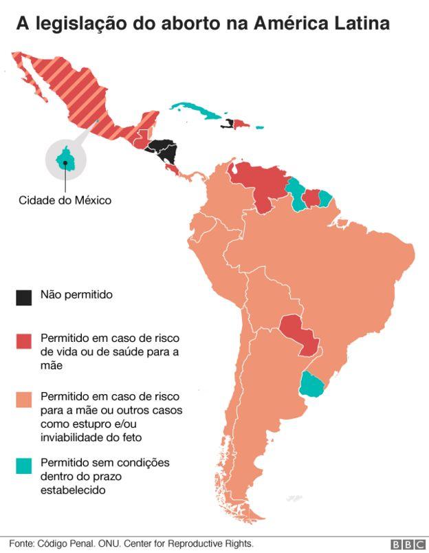 mapa da legislação de aborto