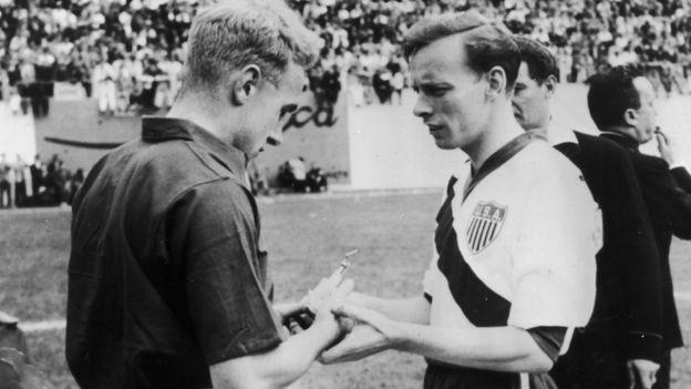 英格蘭隊在1950年第一次參加世界杯,當時曾與美國隊對陣