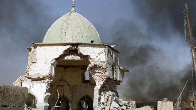 Reruntuhan masjid