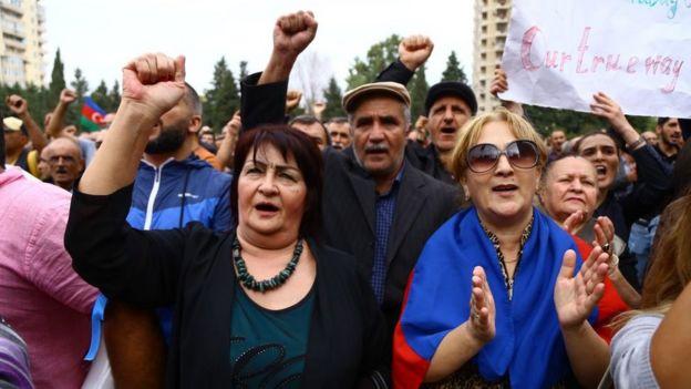 Protesta en Bakú