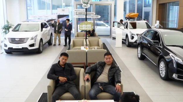 Cao Chenyi's Cadillac dealership near Shanghai