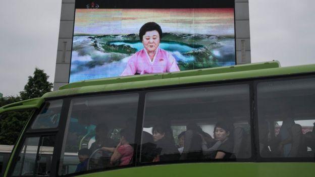 Presentadora de televisión norcoreana.