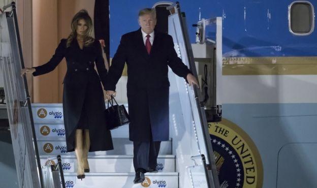 Президент США и Первая леди прибыли в Париж в пятницу