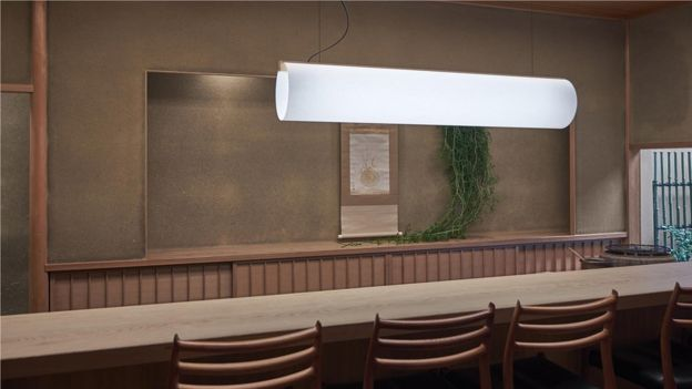 The Enso lamp by Danish designer Lars Vegen is a tubular pendant, inspired by Japanese craftsmanship (Credit: Dejan Alankhan)