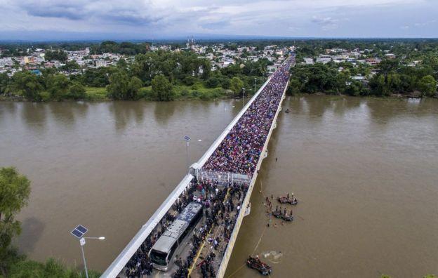 Puente sobre el río Suchiate