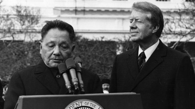 Deng Xiaoping with Jimmy Carter