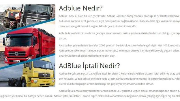 Adblue Emülatörü satan internet sitesi