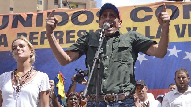 Henrique Capriles en un discurso