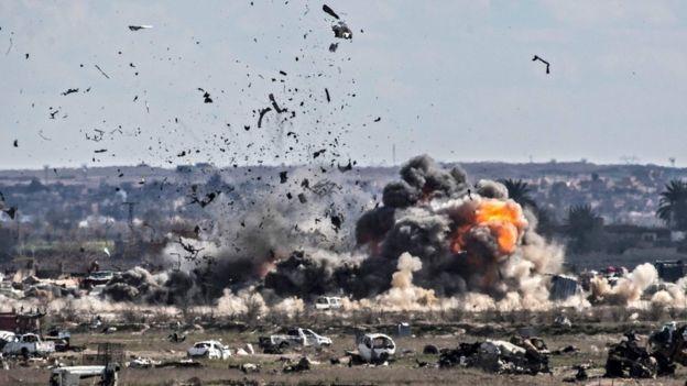 انفجارات جراء معارك شرقي سوريا