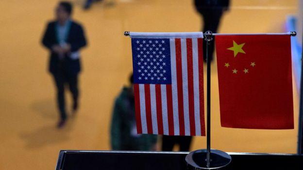 中美两国国旗