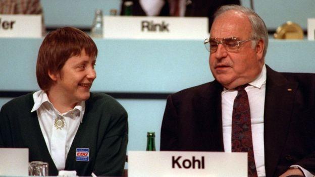 Ángela Merkel y Helmjt Kohl.