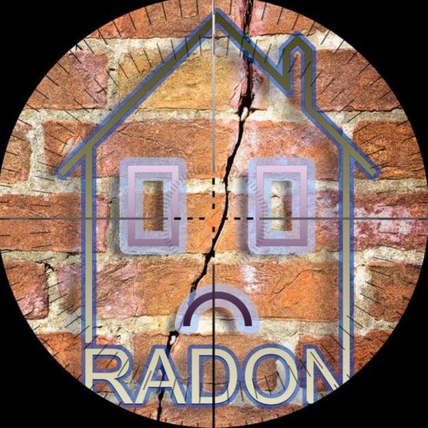 Casa afectada por radón