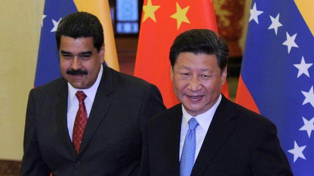 Nicolás Maduro y Xi Jinping en 2015