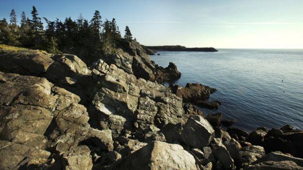 Liberty Point at Roosevelt Campobello International Park on Campobello Island in Canada