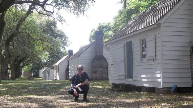 An image appearing to show Charleston church shooting suspect Dylann Roof posing in front of historic site linked to slavery-era in the South - 27 April 2015