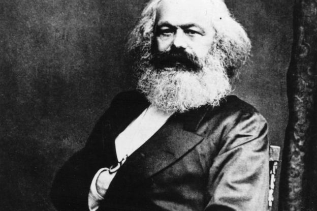 Karl Marx, the philosopher and sociologist who advocated struggle for social change