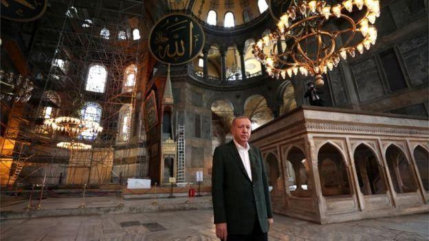 إردوغان أمام آياصوفيا
