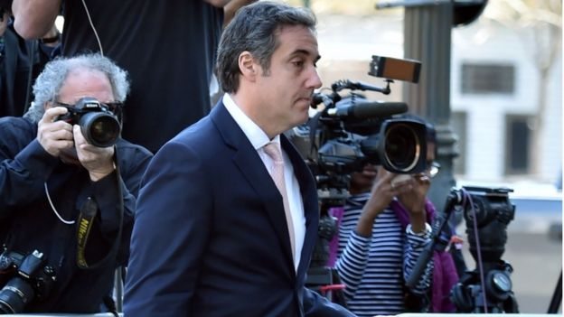 Michael Cohen photographed as he arrives at the US Courthouse in New York on April 26, 2018