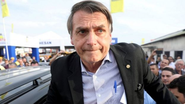 Candidato presidencial Bolsonaro