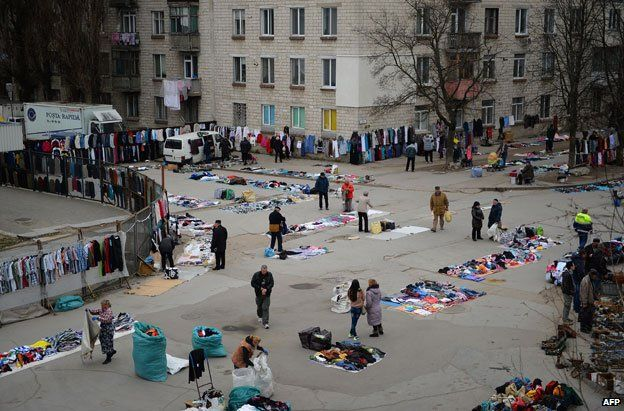 A second-hand goods market in Chisinau
