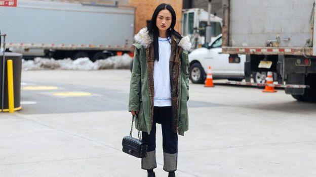 Jing Wen at New York Fashion Week