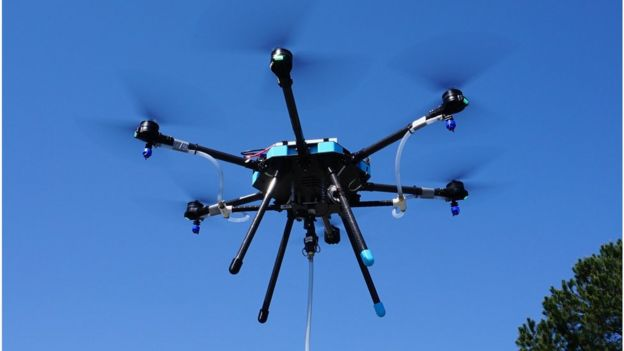 Sanitation drone from Lucid Drones Technologies