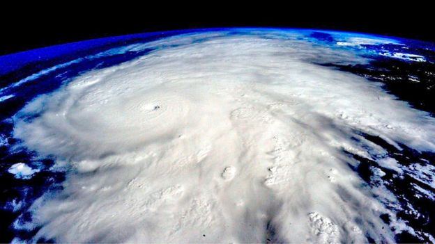 Hurricane Patricia, a Category 5 storm, is seen approaching the coast of Mexico in a NASA picture taken from the International Space Station October 23, 2015