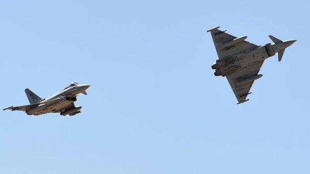 جنگندههای تایفون بریتانیایی متعلق به نیروی هوایی عربستان