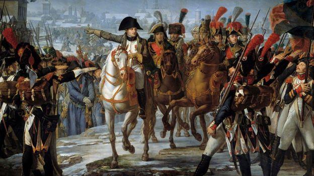 بونابرت مع قادته في إحدى المعارك