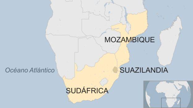 mapa del sur de África
