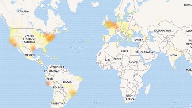 Selon un service de monitoring d'Internet le problème était mondial.