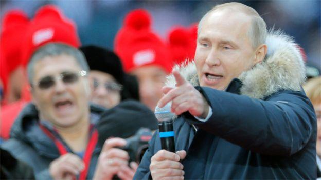 Vladimir Putin en Campaña