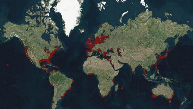 Mapa de zonas mortas