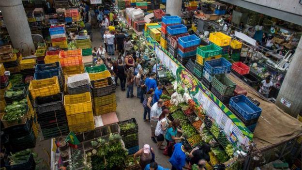 Mercado municipal de Caracas, Venezuela.