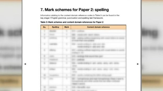 Sats test paper 'leaked by rogue marker' - BBC News