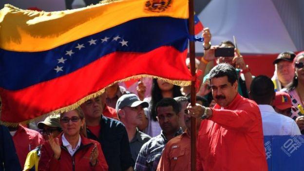 """Maduro realizó un acto el sábado en Caracas, donde celebró el haber derrotado el """"golpe de Estado"""""""