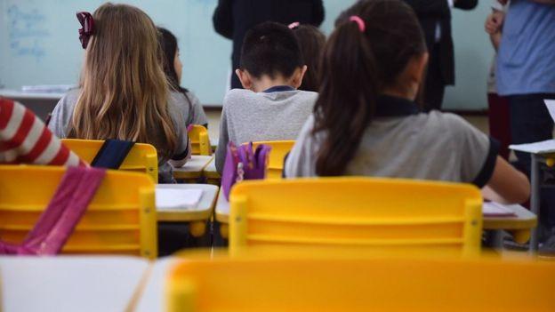 Escola catarinense, em foto de arquivo