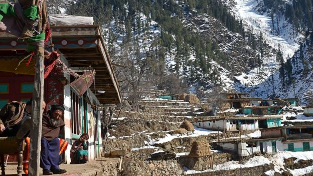 Mughalmar village in the Bishigram valley in northern Pakistan