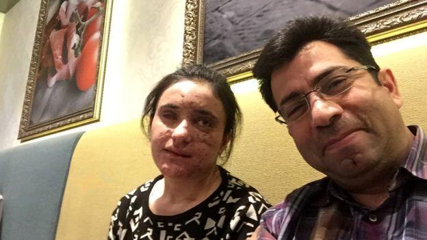 Mirza Dinnayi com Lamya Haji Bashar