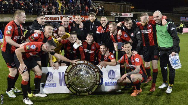 County Antrim Shield final: Late double sees Crusaders beat Linfield 4-3 in  thriller - BBC Sport