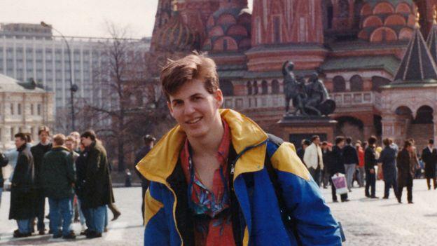 Jeff en Moscú.