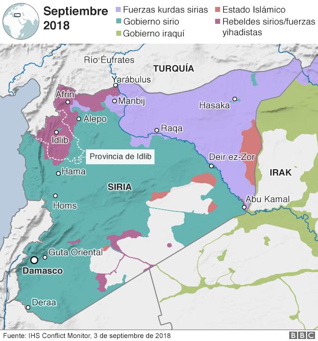 Guerra De Siria Mapa.Guerra En Siria Por Que La Batalla Por Idlib Puede Ser