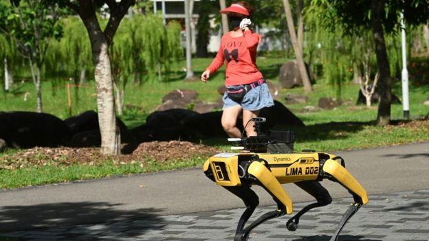 робот в Сингапуре