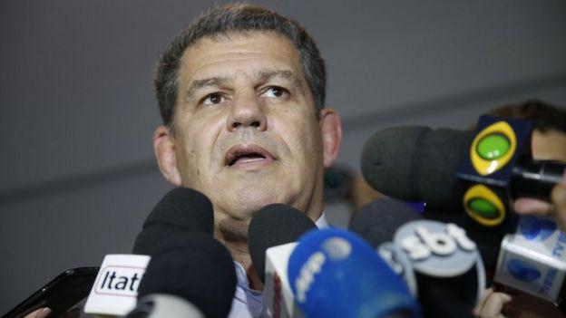 Gustavo Bebiano em entrevista para jornalistas